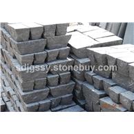 山东蓝色石灰石自然面墙石