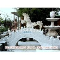 拱形石桥白麻  公园扶手拱形石桥 庭院桥雕