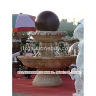 风水球加工 雕刻石头喷泉 庭院园林石雕