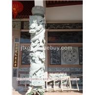 厂家销售中华龙图腾柱 狮柱龙头柱 少数民族文化柱