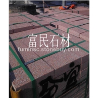 江西红色石材荔枝板石材成品映山红富贵红荔枝板石材贵妃红荔枝枝板生产厂