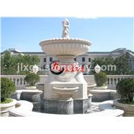 欧式人物石雕喷泉 石雕流水摆件 喷泉流水盆