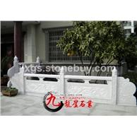 寺庙栏杆 栏板浮雕图案雕刻 石雕栏杆定做