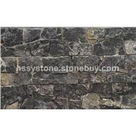 黑色石灰石墻石