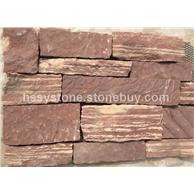 红砂岩平面+断面墙石