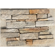 灰+锈色文化石墙石