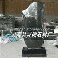 灵硕厂家批发各种规格山西黑墓碑 定做套碑 家族墓碑 石雕墓碑