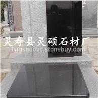 中国黑石材墓碑 河北黑花岗岩墓碑