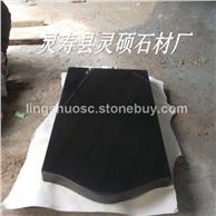 中国黑墓碑中国黑石材磨光面 荔枝面 火烧面 规格板 毛板 荒料 山西黑墓碑