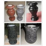 花岗岩墓前花瓶