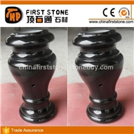 GMV-009黑色花岗岩墓地花瓶