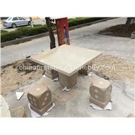 GCF4029 柏坡黄桌椅套装