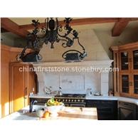 白色大理石厨房墙砖