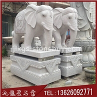 石雕大象 精品汉白玉小象 石材雕刻