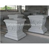 方形雕花石雕花盆