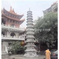 台湾寺庙石雕佛塔 十一层石塔