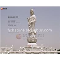 石雕观音 江西鄱阳湖石雕观音像