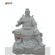 石雕伽藍菩薩坐像 關公石雕刻