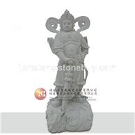 石雕韦驮菩萨站像