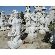 八仙过海石雕像