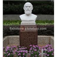 汉白玉石雕希波克拉底