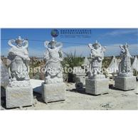 四大金刚石雕像
