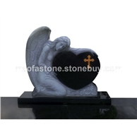 天使雕刻,山西黑天使欧式墓碑