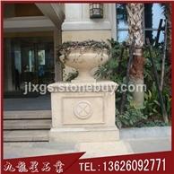 庭院景观花钵 户外石材花钵 石雕花盆制作