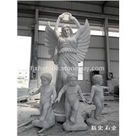 欧式石雕女神与天使