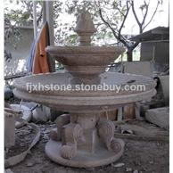 欧式石雕喷水跌水