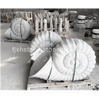 石雕海螺喷水景观小品