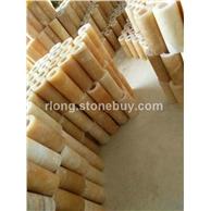 米黃玉松香玉透光柱