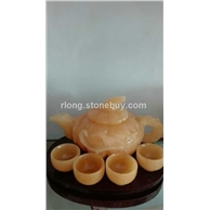 米黄玉茶具