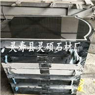 灵硕石材供应中国黑墓碑 山西黑中式墓碑