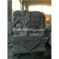 园林石雕大象 招财石象 景区大象雕塑