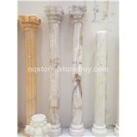 黄根冰玉石雕刻罗马柱