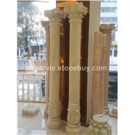 墨西哥进口天然冰玉雕刻罗马柱