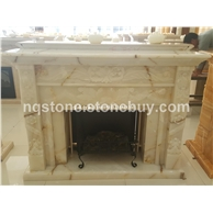 F-248金丝白玉壁炉MARBLE FIREPLACE MANTEL