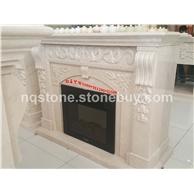 供应新莎安娜米黄大理石壁炉架Marble fireplace mantels