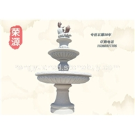石雕喷泉、喷水池造景 园林景观水景水钵 花岗岩石雕喷泉园林雕刻、人物石雕 喷水池 花钵栏杆