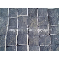 蒙古黑自然面蘑菇石