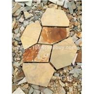 黄土锈色文化石 冰裂纹 碎拼文化石 龟裂纹