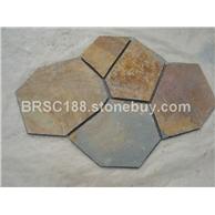 锈色 锈色文化石 冰裂纹 龟裂纹 碎拼 厂家直销大量批发