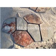 锈色文化石 冰裂纹 碎拼文化石 龟裂纹