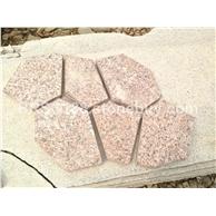石岛红冰裂纹文化石 碎拼石材  厂家直销 大量批发