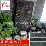 流水板 天然流水石 文化石背景墙水幕墙石材花园庭院水池艺术墙砖
