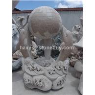 石雕,雕刻,风水球,喷水池,栏杆