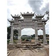 石雕牌坊制作厂家 芝麻白山门 惠安石雕牌坊