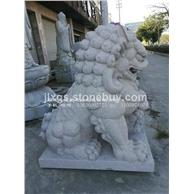 惠安石狮子定做 白麻北京狮 青石献钱师