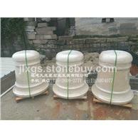 埃及米黄花钵 小区石雕花钵 石雕花盆制作